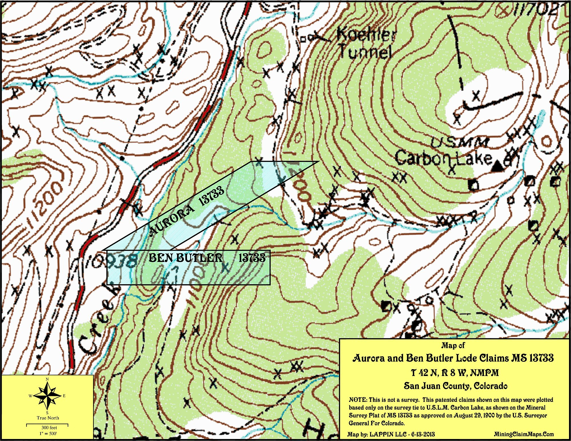 Professional Mapping of Mining Claims and Real Estate on
